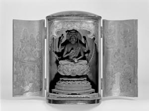 愛染明王坐像(厨子入り)