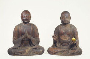 Bodhisattva Kṣitigarbha and Nāgārjuna