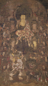 Śākyamuni with Four Bodhisattvas and Ten Rasetsunyo (Rākṣasis)
