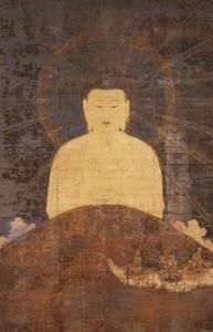 Amida (Amitābha) Coming across the Mountains (J., Yamagoshi Amida Zu)
