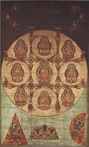 Mandala of the Supreme Uṣṇīṣa Buddhas (J., Sonshō Mandara)
