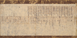 Census register for Kawabe village in Chikuzen Province; Record of the office for copying sutras