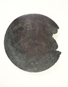 Mirror with incised image of Zaō-gongen