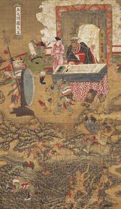 Ten Kings of Hell, Yanluo Wang (J., Enra Ō; Skt., Yamaraāja)