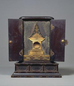 Feretory for enshrining Buddha's relics, Hoke-kyō (Saddharma-puṇḍarīka sūtra)