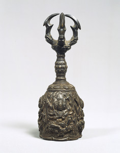 Gokorei (Bell with five-pronged handle) with images of four Myōō (Four Vidya-rajas)_3