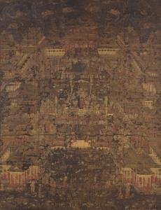 Mandala of the Pure Land of Amida (Amitābha), (J., Amida Jōdo Mandara)