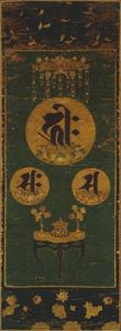 刺繍種子阿弥陀三尊像