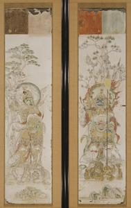 吉祥天・梵天・帝釈天・四天王像 模本(その7.多聞天)