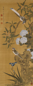 Jurōjin, Birds and Flowers