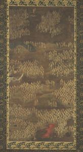 Kasuga Shrine Mandala with One Thousand Images of Jizō (Kṣitigarbha), (J., Kasuga Sentai Jizō Mandara)