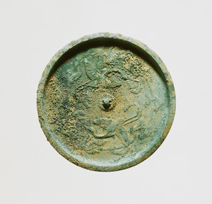 Mirror with Design of Cranes with Pine Sprayas in the Bills (Place of excavation unknown)