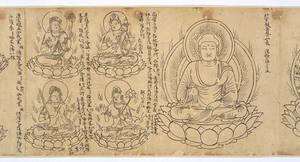 Iconographic Drawings of the Deities of the Womb World Mandala (J., Taizō Zuzō), Scroll 1_3
