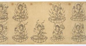 Iconographic Drawings of the Deities of the Womb World Mandala (J., Taizō Zuzō), Scroll 1_5