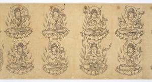 Iconographic Drawings of the Deities of the Womb World Mandala (J., Taizō Zuzō), Scroll 1_6