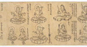 Iconographic Drawings of the Deities of the Womb World Mandala (J., Taizō Zuzō), Scroll 1_9