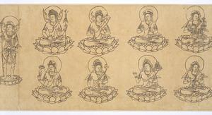 Iconographic Drawings of the Deities of the Womb World Mandala (J., Taizō Zuzō), Scroll 1_14