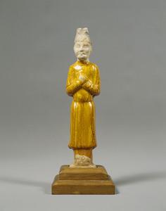 黄釉文官俑