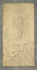 Fudō Myōō (Acalanātha) and Two Child Acolytes