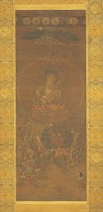 Kasuga Shrine Mandala with the Bodhisattva Monju (Mañjuśrī), (J., Kasuga Monju Mandara)