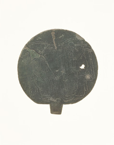 Mirror with incised image of Shintō-deities