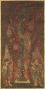 Sword with the Dragon Kurikara (Kulika Nāgarāja) and Two Child Acolytes
