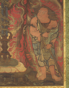 Sword with the Dragon Kurikara (Kulika Nāgarāja) and Two Child Acolytes_3