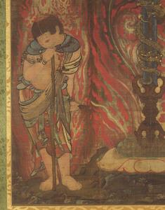 Sword with the Dragon Kurikara (Kulika Nāgarāja) and Two Child Acolytes_4
