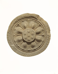Round eaves-end tile (Excavated presumably from a temple site of Yamamura, Nara)