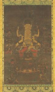 Fukūkensaku Kannon (Avalokiteśvara), (Known as the Nan'endō Mandara)