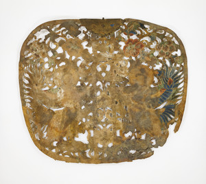 """Keman (Pendant ornament in Buddhist sanctuary), No. 3 (""""Ha"""")"""