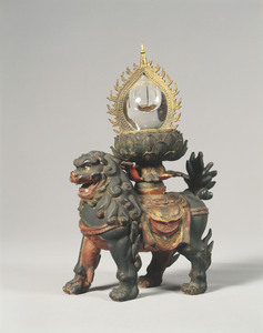 Reliquary in the Shape of Flaming Jewel on a Lion