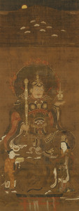 Kasuga Shrine Mandala with the Deity Bishamon Ten (Vaiśravaṇa), (J., Kasuga Bishamonten Mandara)