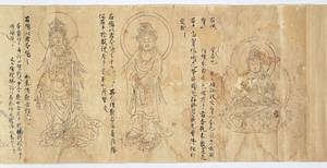 Iconographic Drawings of Manifestations of Kannon (Avalokiteśvara)