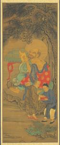 Fourth Rakan, one of Sixteen Rakan (Arhats)