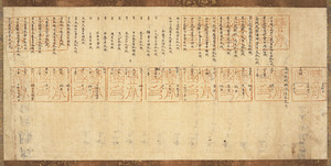 Census Register of Yoboro Village in Buzen Province