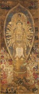 Thousand-Armed Kannon (Sahasrabhūja) with Twenty-eight Messengers