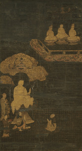 Scene from the Sutra of Visualization on the Buddha of Measureless Life (Kanmuryōjukyō), (J., Kangyō Jobungi Zu)