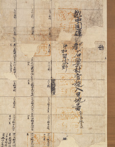 Map of the estate of Tōdai-ji temple in Isawa village in Etchū Province_2