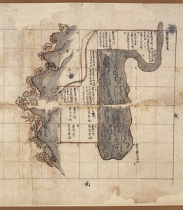 Map of the estate of Tōdai-ji temple in Takakushi village in Echizen Province_1