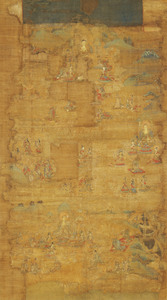 Mandala of the Lotus Sutra (J., Hokekyō Mandara)