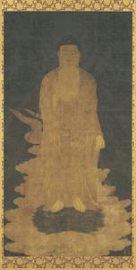 Descent of Amida (Amitābha), (J., Amida Raigō Zu)