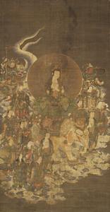 Fugen (Samantabhadra) and Ten Rasetsunyo (Rākṣasis)