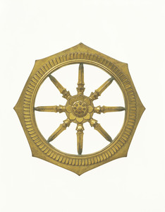Gilt-bronze Jeweled Wheel (Rinbō)