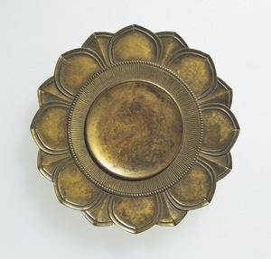 Gilt-bronze Round Tray (for a Rinbō and Katsuma)