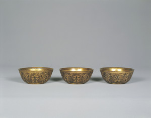 Gilt-bronze Six Containers (Rokki)