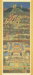 Mandala of Kasuga Shrine and Kōfuku-ji Temple (J., Kasuga Shaji Mandara)
