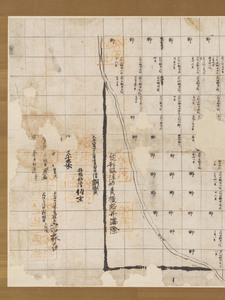 Map of the estate of Tōdai-ji temple in Isawa village in Etchū Province_7