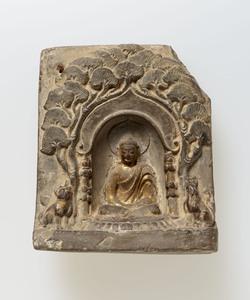 方形独尊坐像塼仏(中国出土)