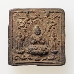 方形阿弥陀三尊塼仏(中国出土)